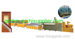 PVC wood plastic door extrusion line/PVC door making machine