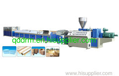 PP wood plastic profile extrusion line/WPC profile extruder