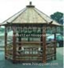 outdoor bamboo pavilion