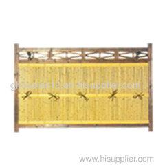 elegant bamboo fence