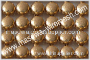 Metallic cloth metal mesh fabric golden color