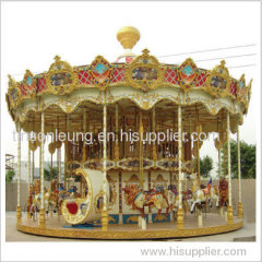 Ancient 2 Level Carousel outdoor rides