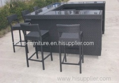 outdoor wicker furniture rattan bar sets from China manufacturer