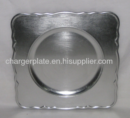 Square Plastic Charger Plate From China Manufacturer