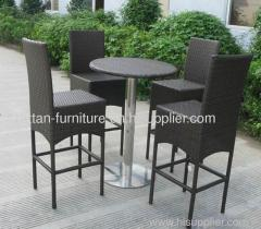 High Quality garden furniture rattan bar set