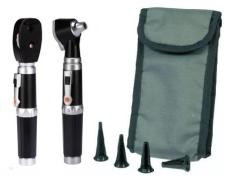 otoscope set with Ophthalmoscope in soft case