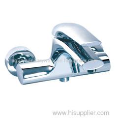 Flat handle bath shower mixer tap