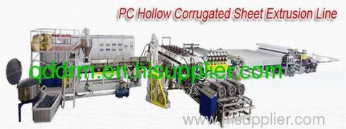 PC Hollow corrugated sheet extrusion line/sheet making line