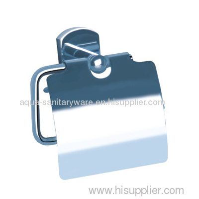 Toilet Paper Holder with Cover Brass