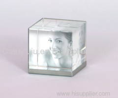transparent crystal photo frame paper weight