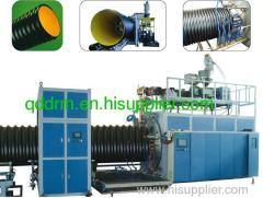 HDPE spiral corrugated pipe production line