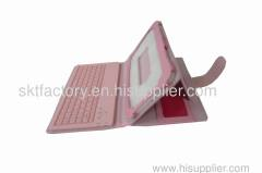 """7"""" pink leather ipad cases with keyboard"""