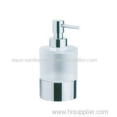 Stainless steel refillable soap dispenser
