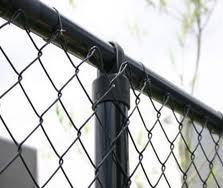 Black Vinyl Coated Chain Link Fence