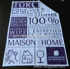 Rond Torchon Eponge Serviette, Round Kitchen Towels, Terry, Waffle, Pique Fabrics, Embroidered