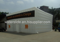 White inflatable tent for exhibition or party