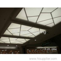 Translucent pvc stretch ceiling