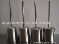 Stainless steel toilet brush holders