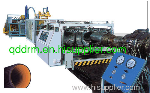 PVC double- wall corrugaed pipe extruding machine