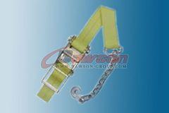 3 inch Ratchet Strap w Chain Anchor Cargo Tie Down Dawson Group China Manufacturer Supplier