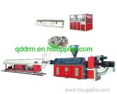 plastic extruder for PVC twin pipe
