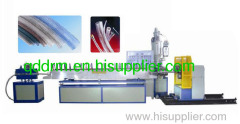 PVC/PE sprial steel wire reinforced hose production line