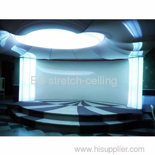 lighting stretched ceiling