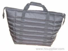 Black protable ice bag