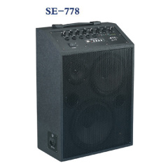 Portable Speaker and powered mixer together with MP3 player