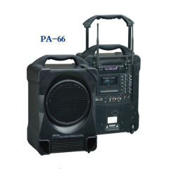 Portable speaker system /2 Ch UHF Wireless MIC & DVD Player