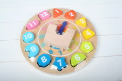 Wood Toy Clock 1-HC0108