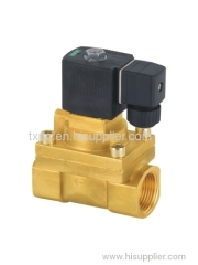 High pressure series solenoid valves