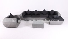 Garden rattan furniture sofa set 5 seater lounge