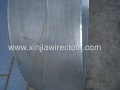 Perforated metal sheet for Washing machines