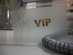 Golden Hot Stamping VIP Card