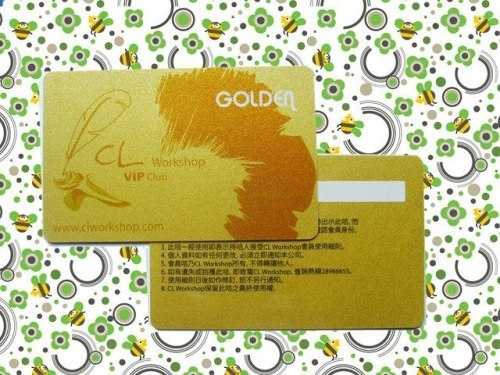 Golden PVC Card