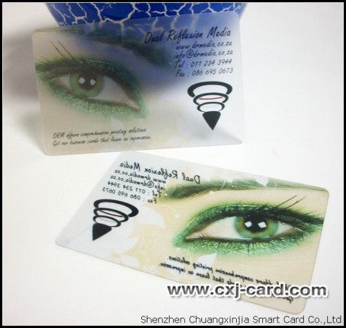 Transparent pvc name card printing