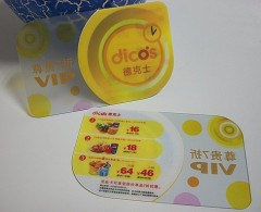 Clear card,transparent plastic card