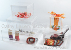 clear gifts holder box 8x8x9 12x12x9 16x16x10 20x25x8.5cm