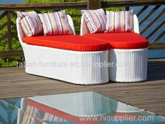 Outdoor Patio Garden Furniture PE Rattan Wicker Daybed Chaise Lounge
