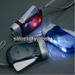 hand prss flashlight