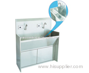 ZY77 Stainless Steel Inductive Hand Washing Sink for Two Persons