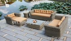 Wicker rattan furniture set