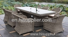 Rattan outdoor table chairs