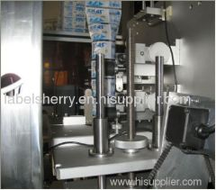 high quality shrink sleeve applicator bottle mouth trapping label machine