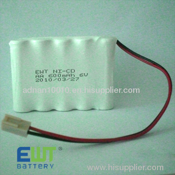 Nicd rechargeable battery cell