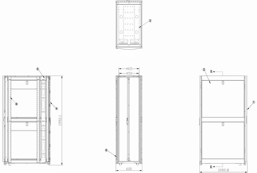 Standing Network Cabinet GLT-JA manufacturer from China