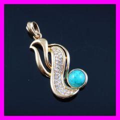 golden plated zircon pendant