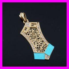 fj Acrylic 18k gold plated pendants