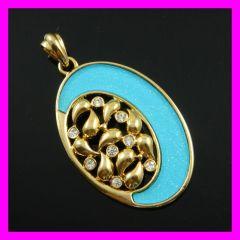 FJ fashion Acrylic 18k gold plated pendant